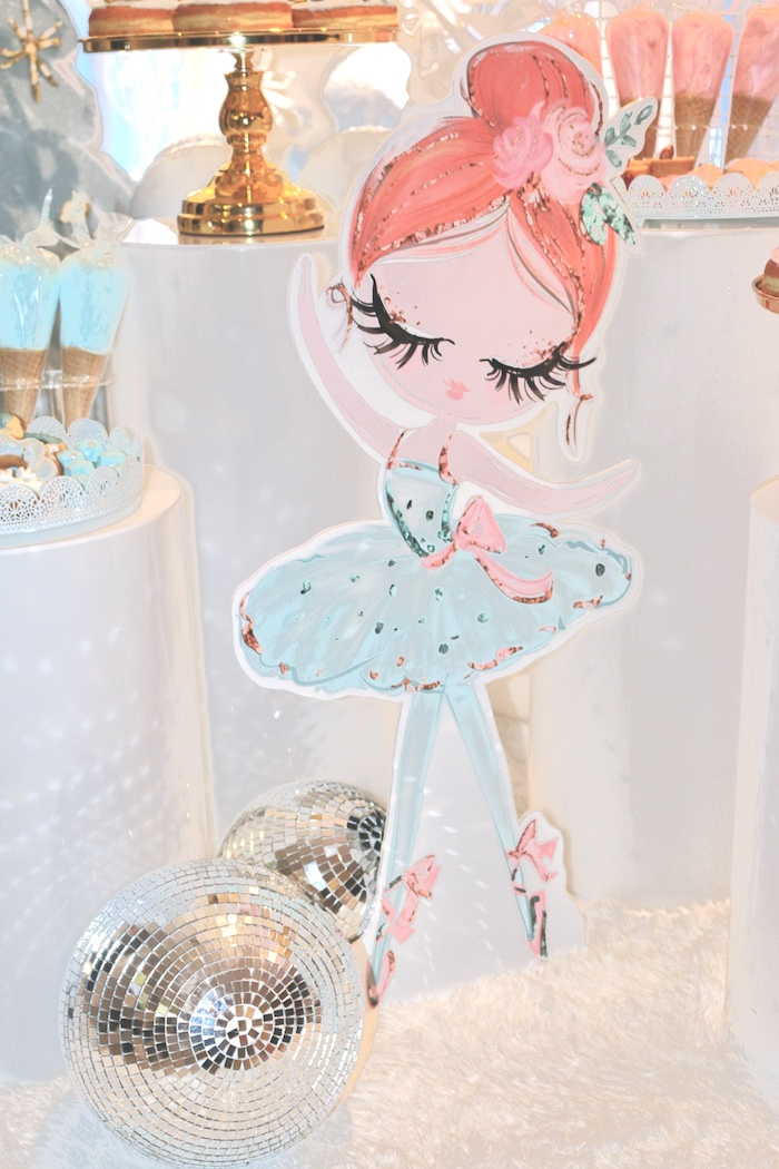 Winter Ballerina Standee from an Arctic Wonderland Birthday Party on Kara's Party Ideas | KarasPartyIdeas.com (9)