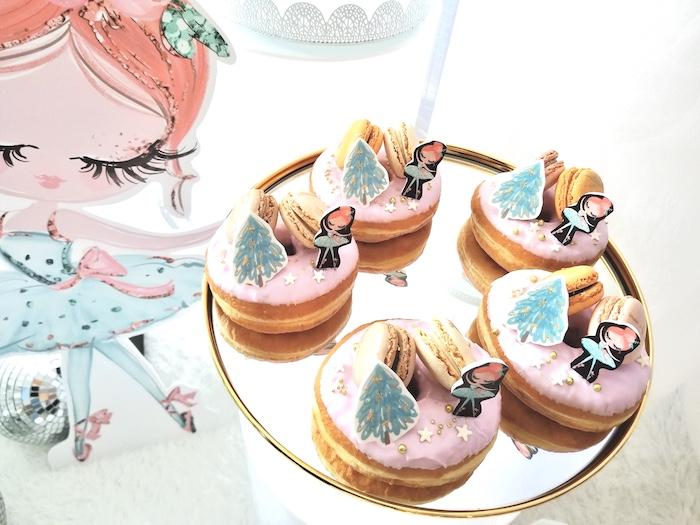 Arctic Ballerina Doughnuts from an Arctic Wonderland Birthday Party on Kara's Party Ideas   KarasPartyIdeas.com (7)
