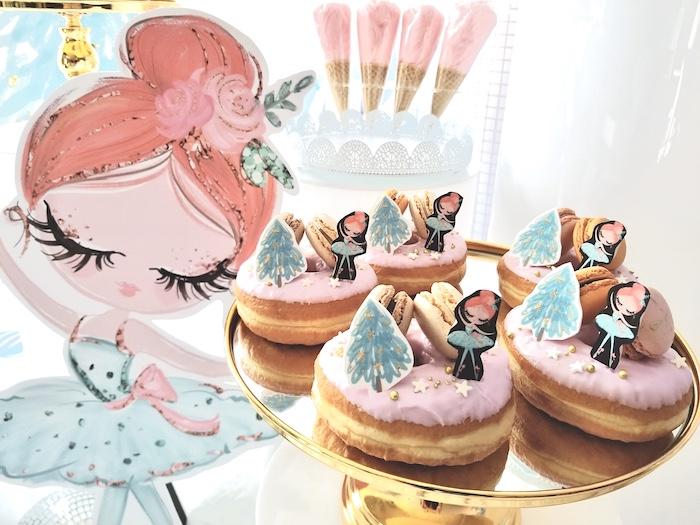 Arctic Ballerina Doughnuts from an Arctic Wonderland Birthday Party on Kara's Party Ideas   KarasPartyIdeas.com (6)