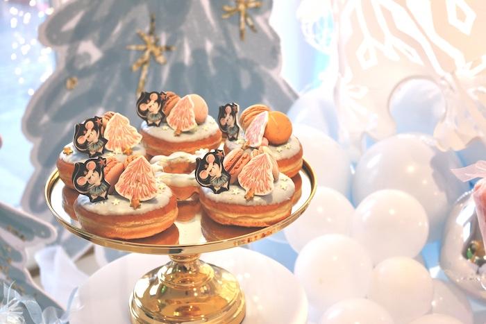 Arctic Doughnuts from an Arctic Wonderland Birthday Party on Kara's Party Ideas   KarasPartyIdeas.com (22)