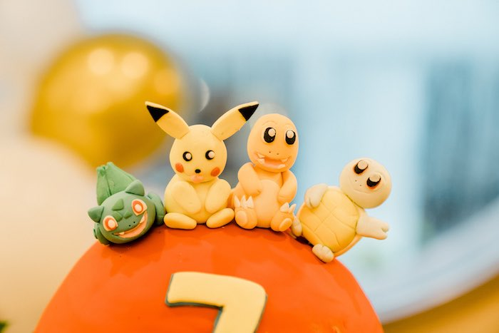 Pokemon Character Cake Toppers from a Boho Pokemon Birthday Party on Kara's Party Ideas | KarasPartyIdeas.com (32)