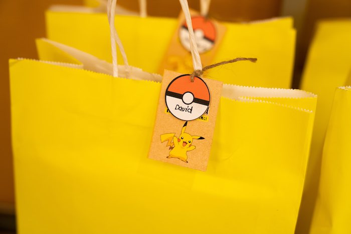 Pokemon Gift Bag Favor Tag from a Boho Pokemon Birthday Party on Kara's Party Ideas | KarasPartyIdeas.com (28)