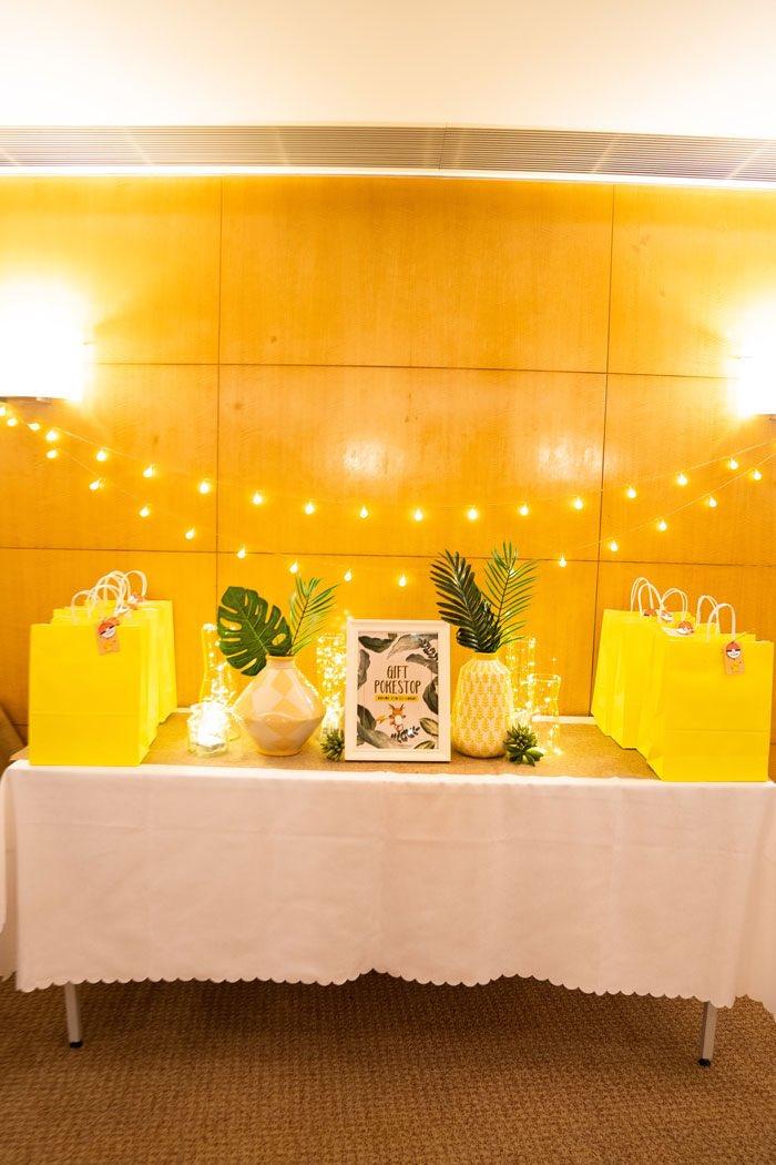 Gift Table from a Boho Pokemon Birthday Party on Kara's Party Ideas | KarasPartyIdeas.com (27)