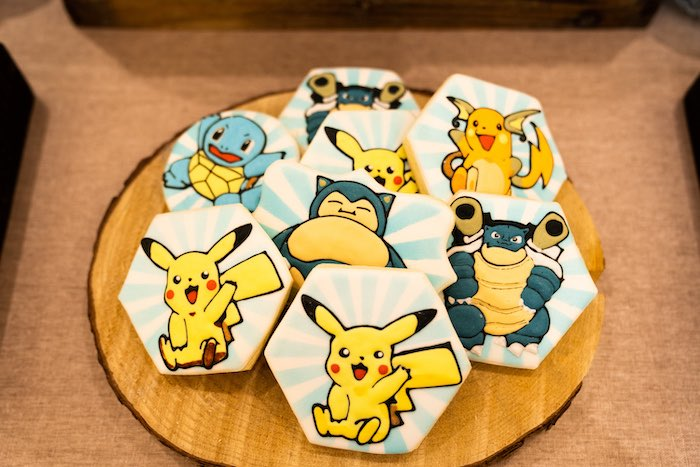 Pokemon Cookies from a Boho Pokemon Birthday Party on Kara's Party Ideas | KarasPartyIdeas.com (10)