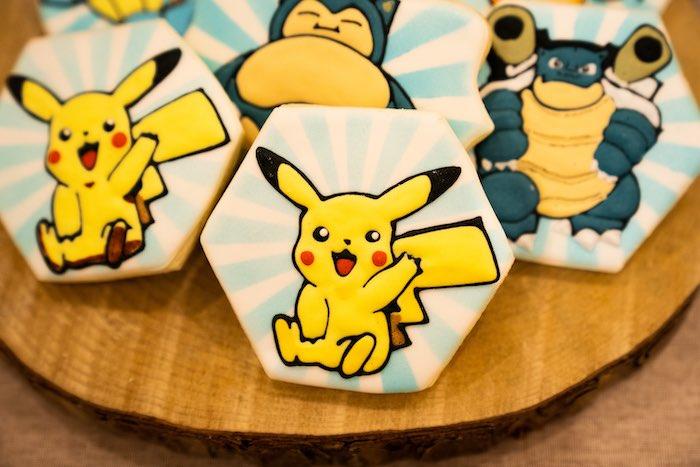 Pikachu Cookie from a Boho Pokemon Birthday Party on Kara's Party Ideas | KarasPartyIdeas.com (8)