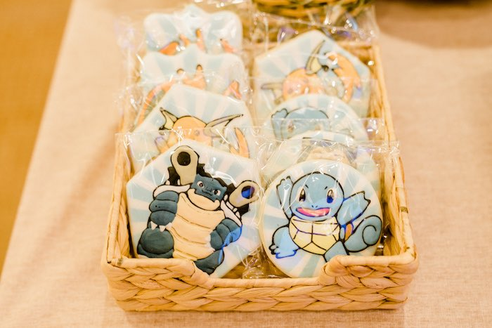 Pokemon Cookies from a Boho Pokemon Birthday Party on Kara's Party Ideas | KarasPartyIdeas.com (38)
