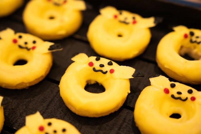 Pikachu Doughnuts from a Boho Pokemon Birthday Party on Kara's Party Ideas | KarasPartyIdeas.com (36)