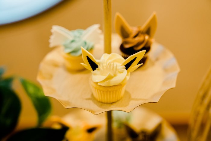 Pokemon Character Cupcakes from a Boho Pokemon Birthday Party on Kara's Party Ideas | KarasPartyIdeas.com (35)