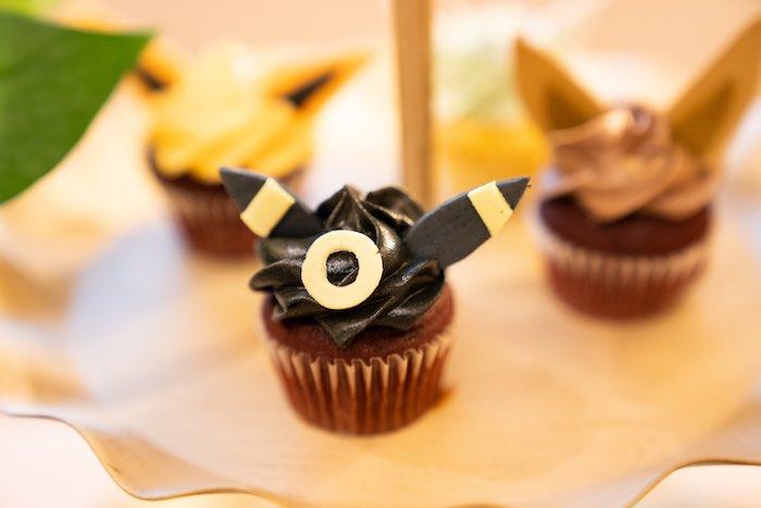 Pokemon Themed Cupcake from a Boho Pokemon Birthday Party on Kara's Party Ideas | KarasPartyIdeas.com (33)