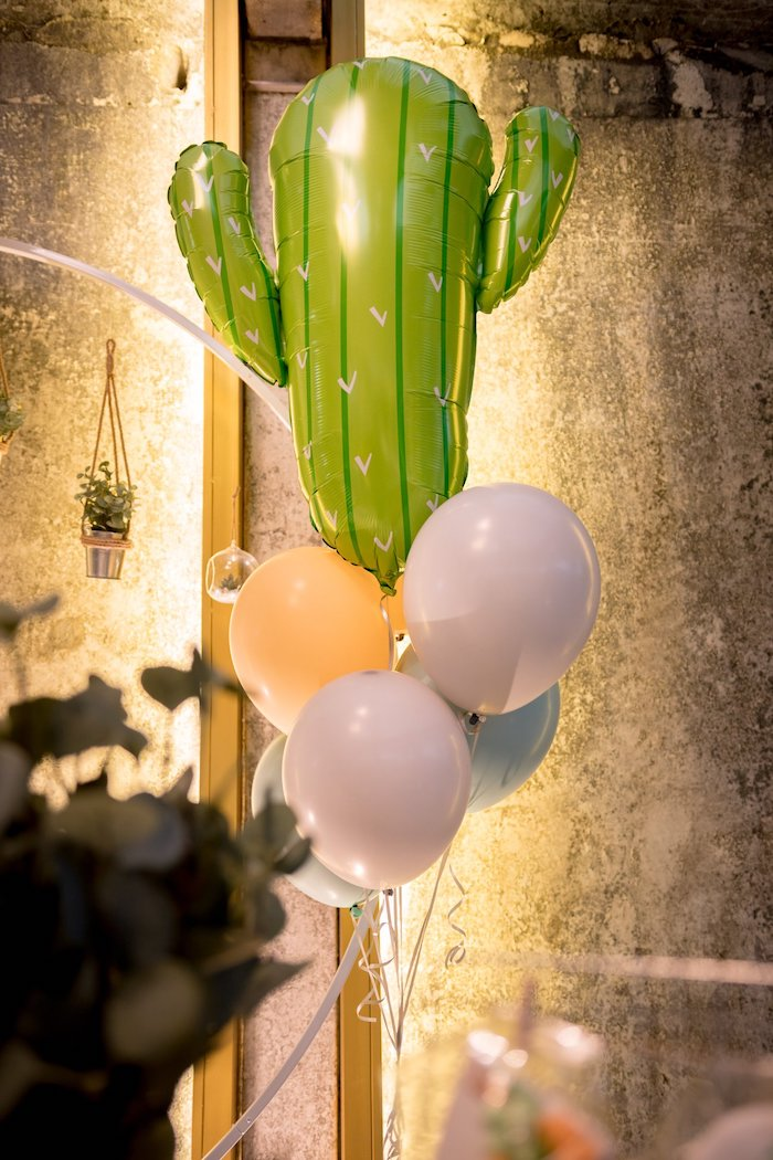 Cactus Balloon Bunch from a Cactus & Succulent Birthday Party on Kara's Party Ideas | KarasPartyIdeas.com (16)