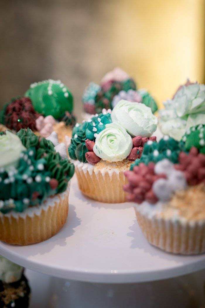 Cactus & Succulent Cupcakes from a Cactus & Succulent Birthday Party on Kara's Party Ideas | KarasPartyIdeas.com (7)