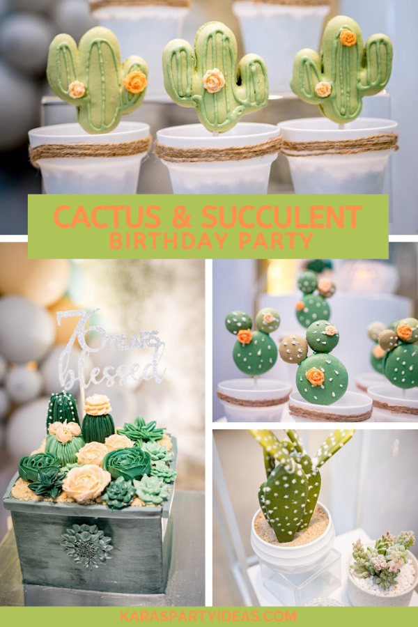Cactus & Succulent Birthday Party via Kara's Party Ideas - KarasPartyIdeas.com