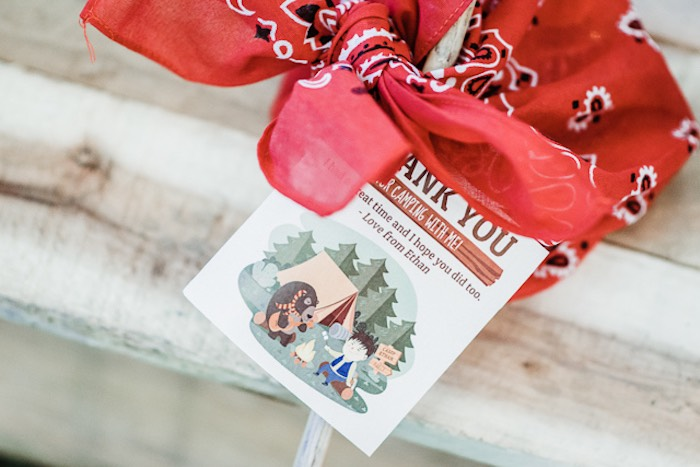 Camp Party Favor Tag from a Camping Outdoor Adventure Birthday Party on Kara's Party Ideas | KarasPartyIdeas.com (25)
