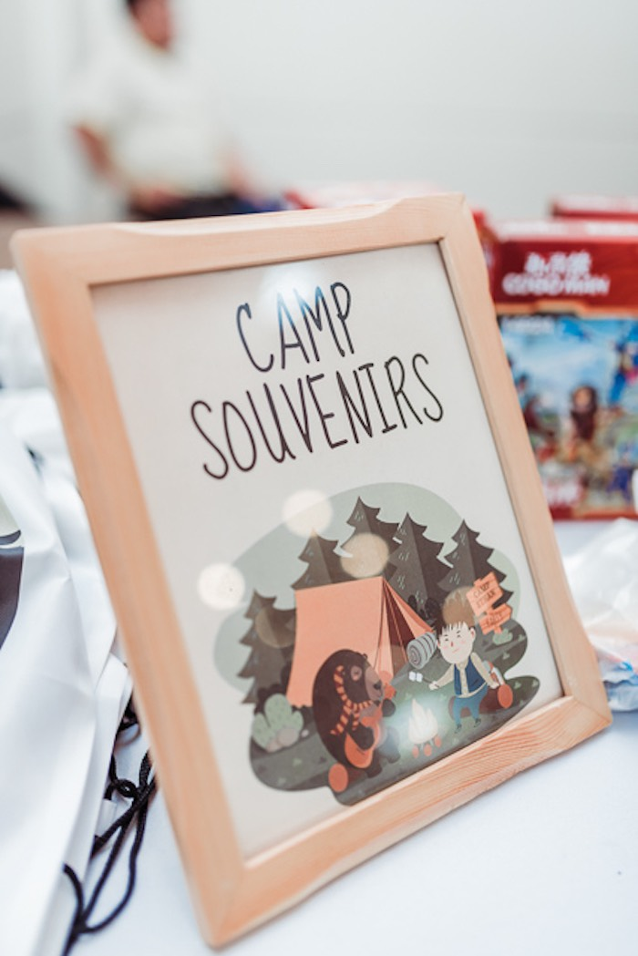 Camp Souvenirs - Favor Table Print from a Camping Outdoor Adventure Birthday Party on Kara's Party Ideas | KarasPartyIdeas.com (21)