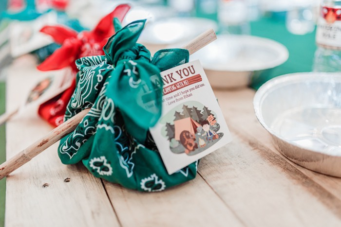 Bindle Favors from a Camping Outdoor Adventure Birthday Party on Kara's Party Ideas | KarasPartyIdeas.com (18)