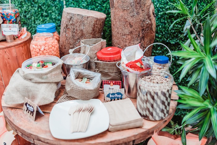 Trail Mix Buffet from a Camping Outdoor Adventure Birthday Party on Kara's Party Ideas | KarasPartyIdeas.com (14)