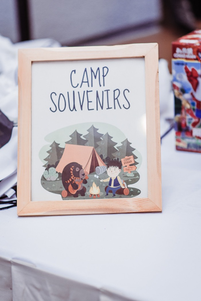 Camp Souvenirs Print from a Camping Outdoor Adventure Birthday Party on Kara's Party Ideas | KarasPartyIdeas.com (8)