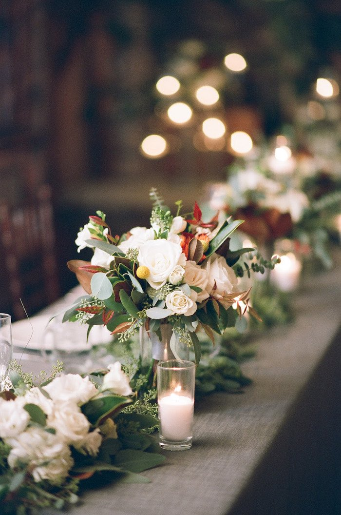 Guest Tablescape from a Country Winter Lodge Wedding on Kara's Party Ideas | KarasPartyIdeas.com (28)