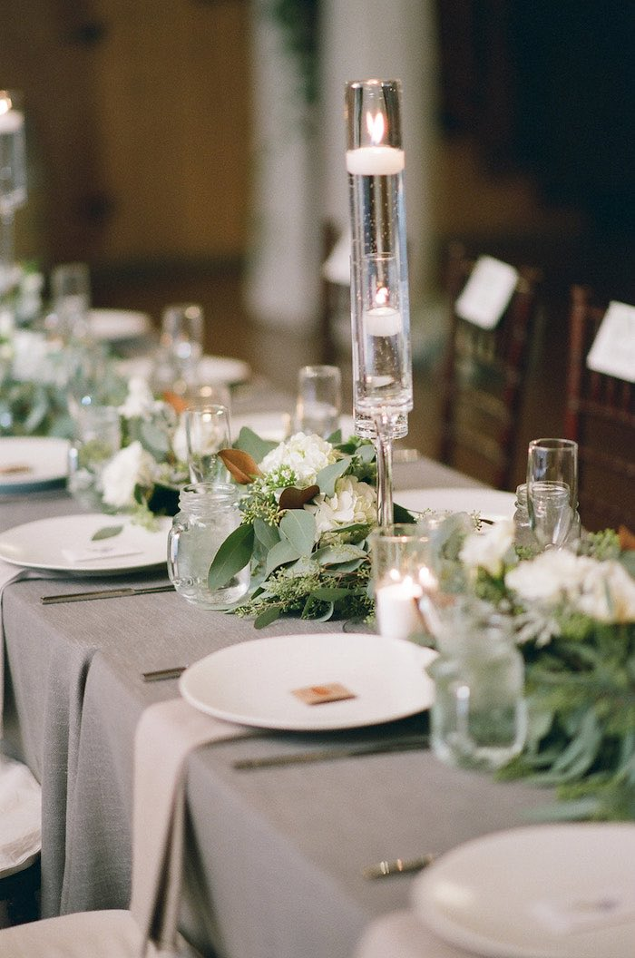 Guest Tablescape from a Country Winter Lodge Wedding on Kara's Party Ideas | KarasPartyIdeas.com (27)