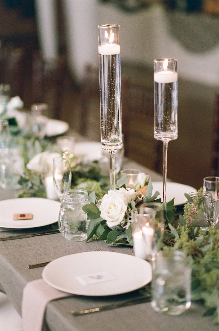 Guest Tablescape from a Country Winter Lodge Wedding on Kara's Party Ideas | KarasPartyIdeas.com (26)