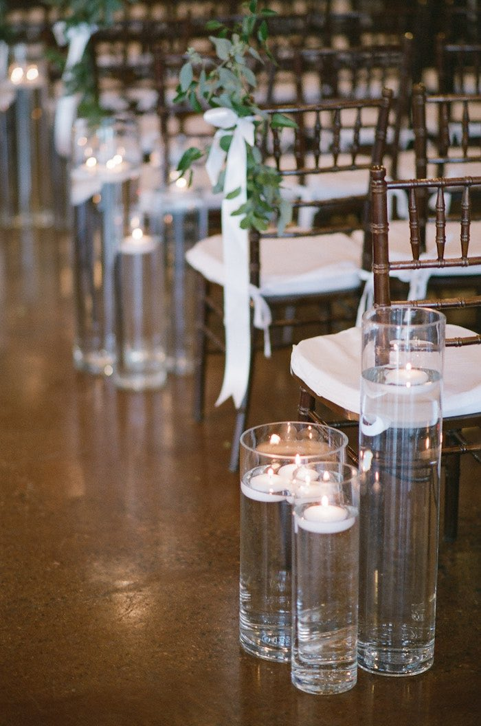 Tiered Vases with Floating Candles from a Country Winter Lodge Wedding on Kara's Party Ideas | KarasPartyIdeas.com (25)