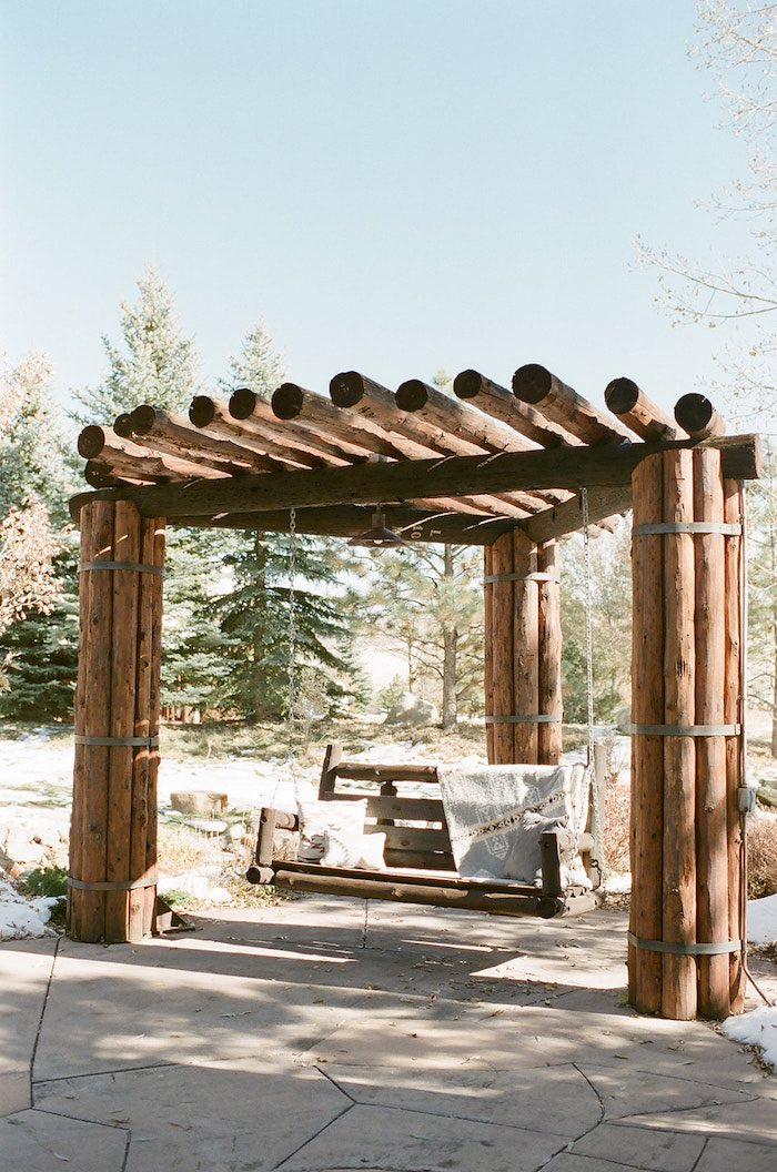 Wood Swing from a Country Winter Lodge Wedding on Kara's Party Ideas | KarasPartyIdeas.com (13)