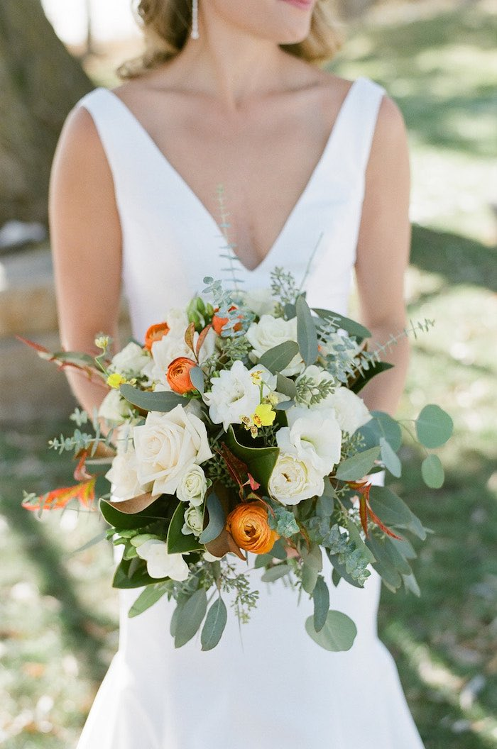 Bridal Bouquet from a Country Winter Lodge Wedding on Kara's Party Ideas | KarasPartyIdeas.com (12)