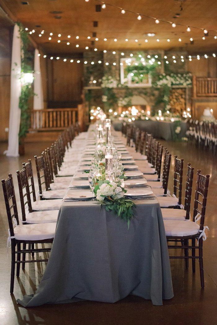 Guest Table from a Country Winter Lodge Wedding on Kara's Party Ideas | KarasPartyIdeas.com (8)
