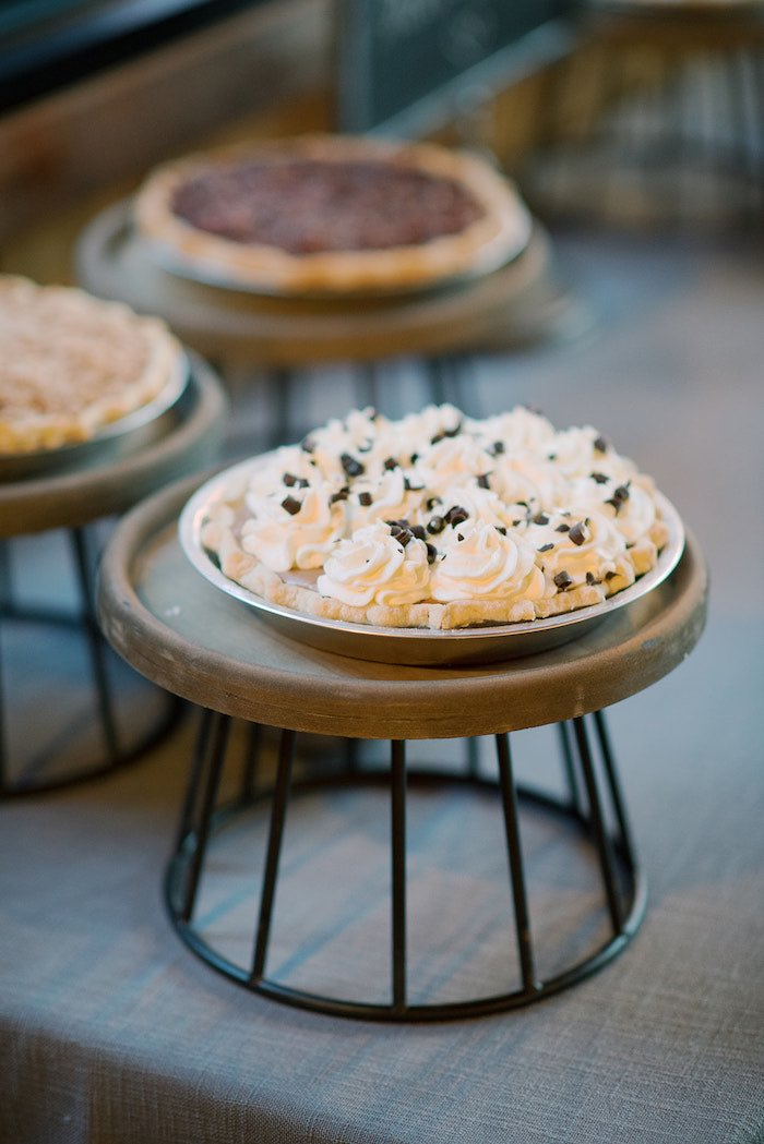 Pie Table from a Country Winter Lodge Wedding on Kara's Party Ideas | KarasPartyIdeas.com (5)