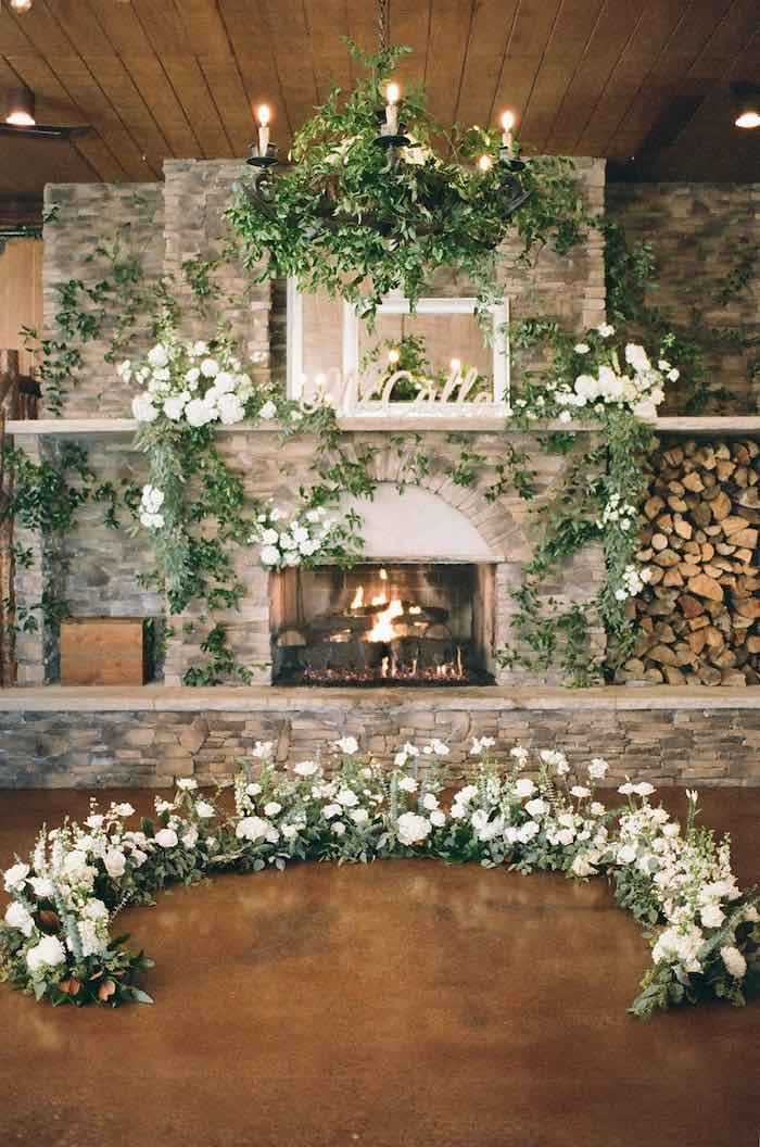 Country Winter Lodge Wedding on Kara's Party Ideas | KarasPartyIdeas.com (35)