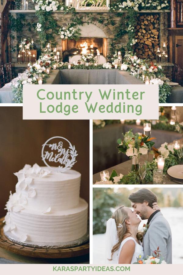 Country Winter Lodge Wedding via Kara's Party Ideas - KarasPartyIdeas.com
