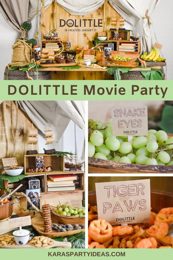 DOLITTLE Movie Party via Kara's Party Ideas - KarasPartyIdeas.com