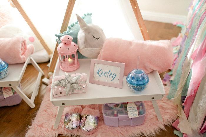 Slumber Party Tray from a Dolly & Me Sleepover on Kara's Party Ideas | KarasPartyIdeas.com (34)