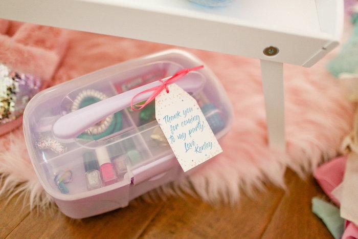Favor Caboodle from a Dolly & Me Sleepover on Kara's Party Ideas | KarasPartyIdeas.com (33)