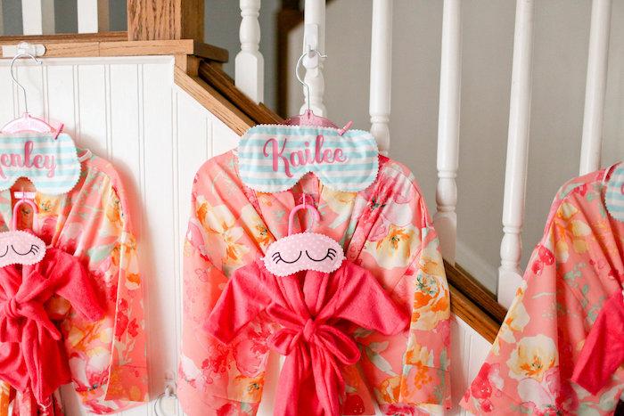 Dolly & Me Robes + Sleeper Masks from a Dolly & Me Sleepover on Kara's Party Ideas | KarasPartyIdeas.com (27)