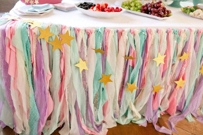Star Tassel Table Skirt from a Dolly & Me Sleepover on Kara's Party Ideas | KarasPartyIdeas.com (21)