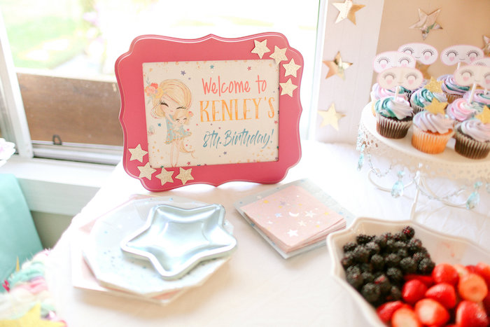 Star-inspired Welcome Signage from a Dolly & Me Sleepover on Kara's Party Ideas | KarasPartyIdeas.com (20)