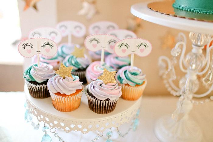 Sweet Dream Cupcakes from a Dolly & Me Sleepover on Kara's Party Ideas | KarasPartyIdeas.com (19)