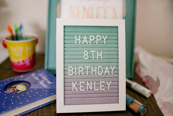 Happy Birthday Letter Board from a Dolly & Me Sleepover on Kara's Party Ideas | KarasPartyIdeas.com (46)
