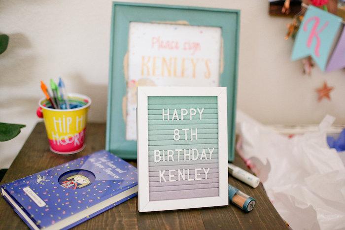 Happy Birthday Letter Board from a Dolly & Me Sleepover on Kara's Party Ideas | KarasPartyIdeas.com (45)