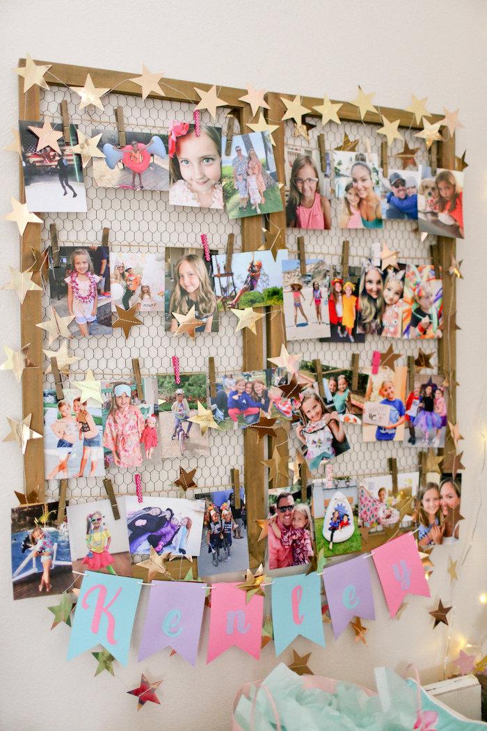 Star Photo Board from a Dolly & Me Sleepover on Kara's Party Ideas | KarasPartyIdeas.com (44)