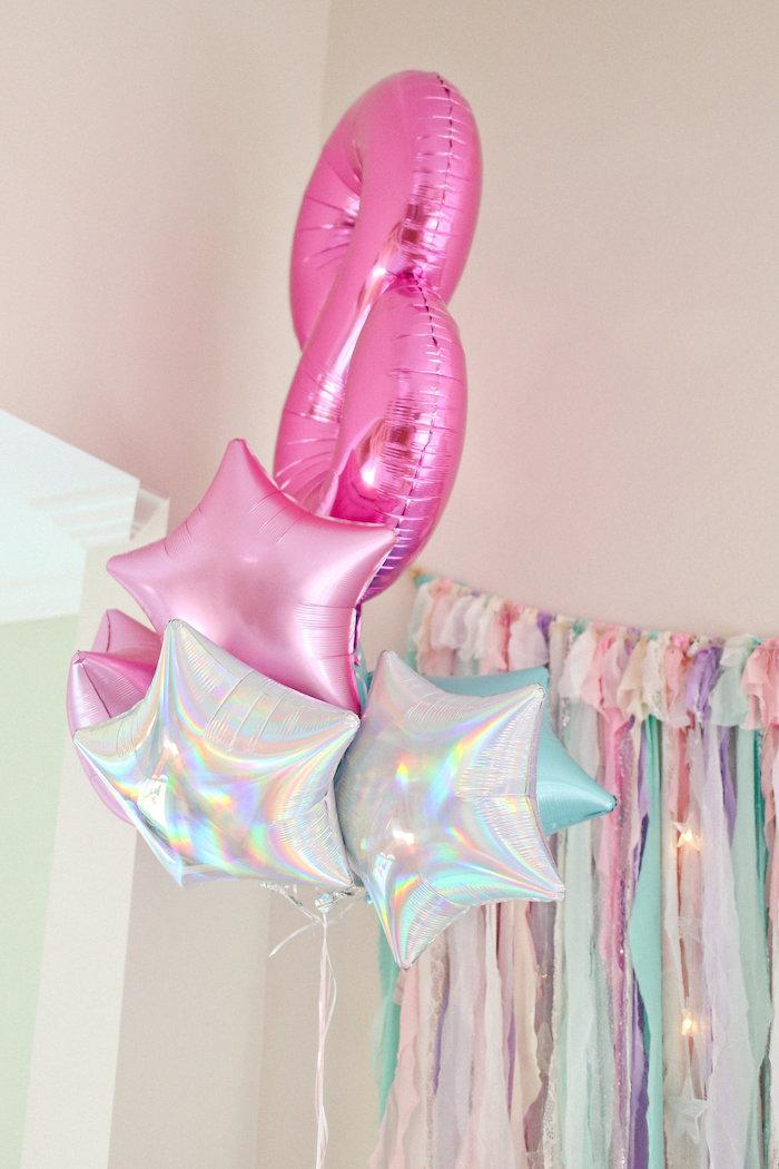 Star Balloon Bunch from a Dolly & Me Sleepover on Kara's Party Ideas | KarasPartyIdeas.com (42)