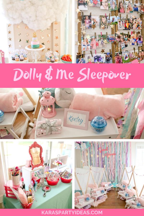 Dolly & Me Sleepover via Kara's Party Ideas - KarasPartyIdeas.com