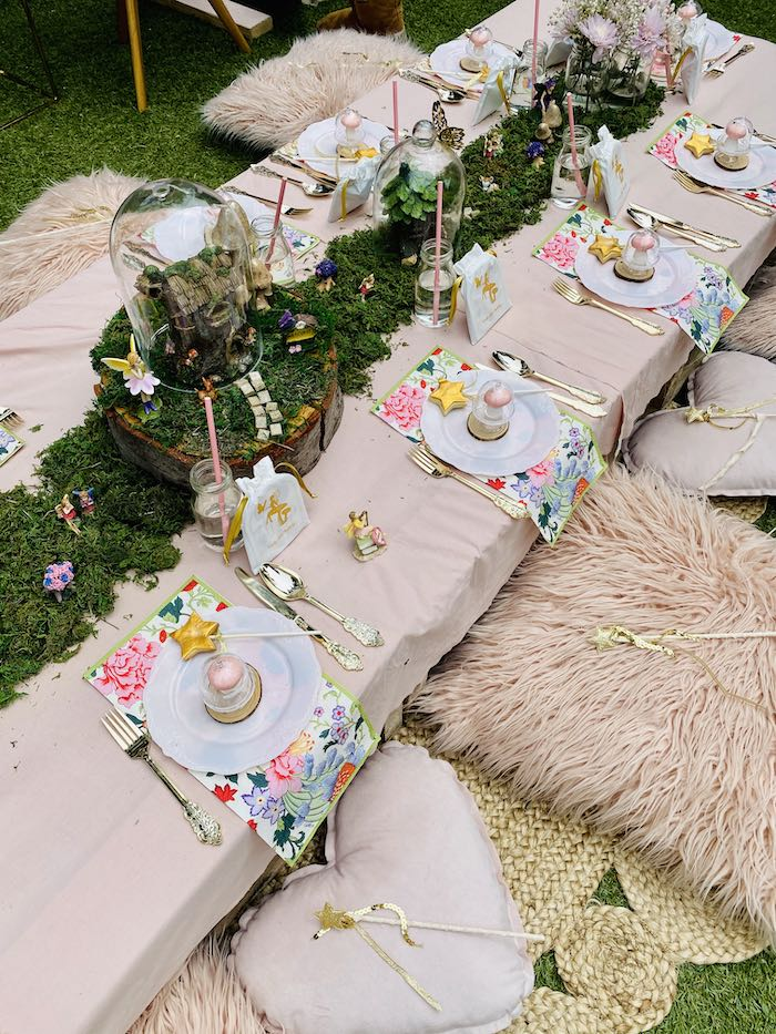 Fairy Themed Party + Guest Table from a Fairy Garden Birthday Party on Kara's Party Ideas | KarasPartyIdeas.com (16)