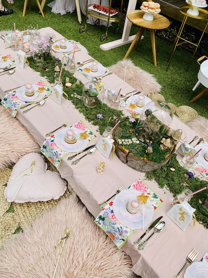 Fairy Themed Party + Guest Table from a Fairy Garden Birthday Party on Kara's Party Ideas | KarasPartyIdeas.com (5)