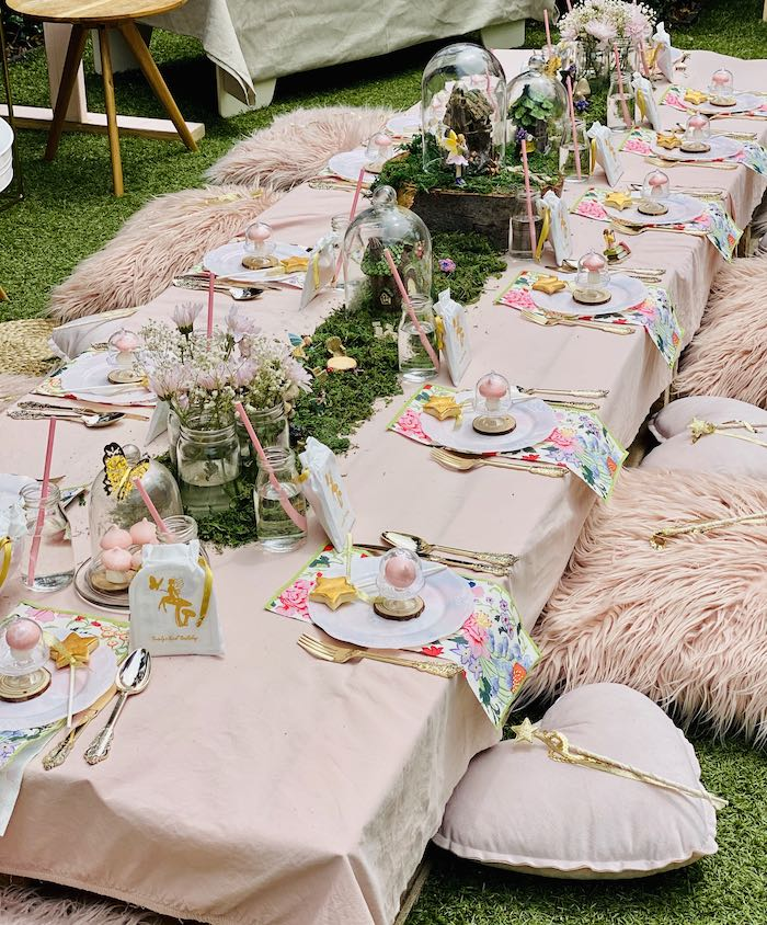 Fairy Themed Party + Guest Table from a Fairy Garden Birthday Party on Kara's Party Ideas | KarasPartyIdeas.com (24)