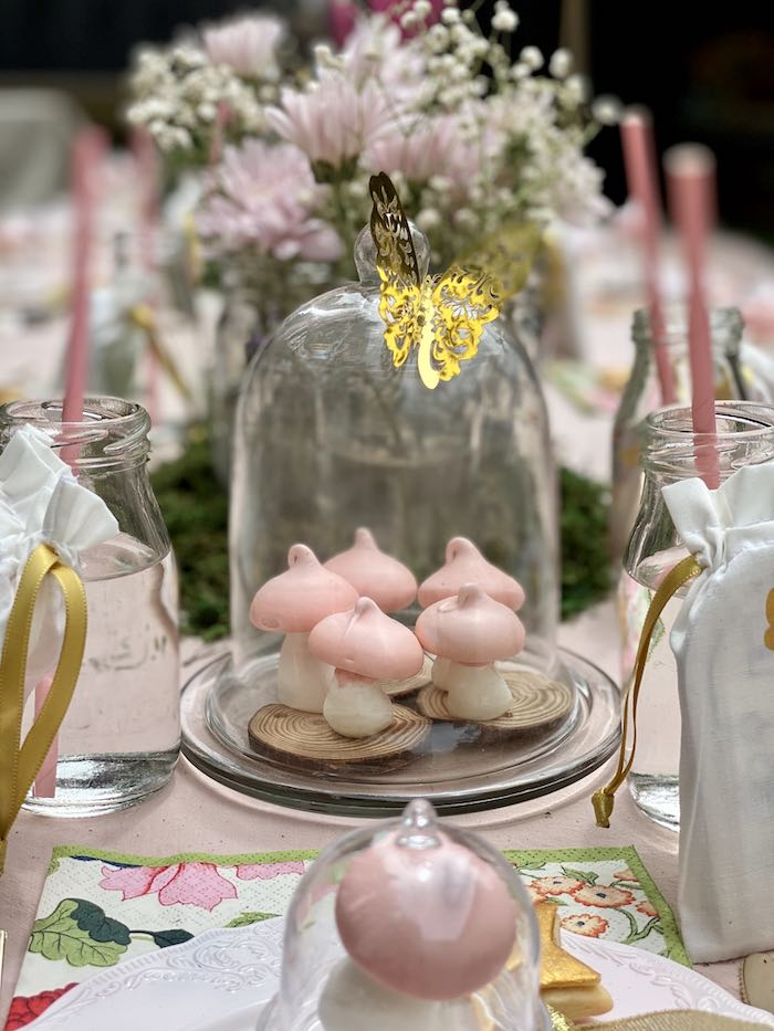Toadstool Meringues from a Fairy Garden Birthday Party on Kara's Party Ideas | KarasPartyIdeas.com (22)