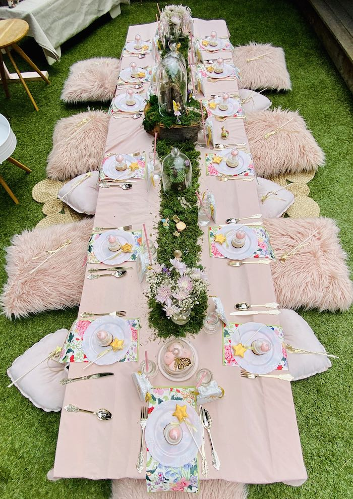 Fairy Themed Party + Guest Table from a Fairy Garden Birthday Party on Kara's Party Ideas | KarasPartyIdeas.com (20)
