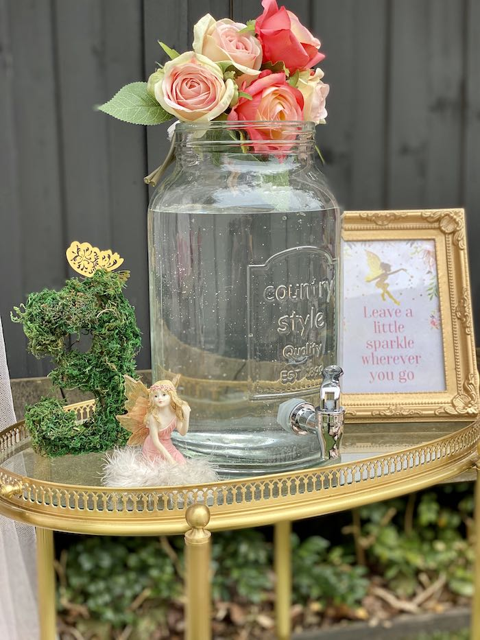 Fairy-inspired Beverage Table from a Fairy Garden Birthday Party on Kara's Party Ideas | KarasPartyIdeas.com (19)