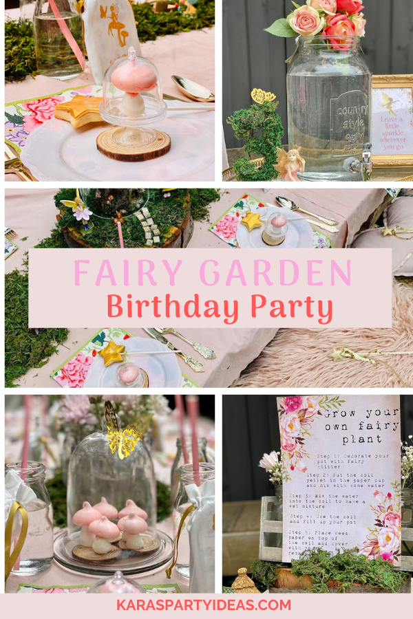 Fairy Garden Birthday Party via Kara's Party Ideas - KarasPartyIdeas.com